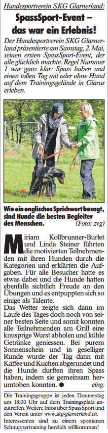 SKG Glarnerland - SpassSport